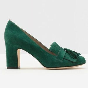 BODEN Loafer Pippa Block Heel Court Shoes Green 42